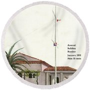 House And Garden Annual Building Number Cover Round Beach Towel