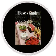 House And Garden Cover Featuring A Buffet Table Round Beach Towel