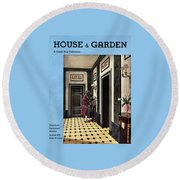 House And Garden Household Equipment Number Round Beach Towel