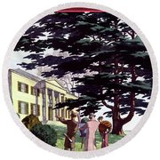 House And Garden Houses For All Tastes Cover Round Beach Towel
