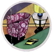 House And Garden Interior Decorating Number Round Beach Towel