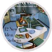 House And Garden Kitchen Ideas Issue Round Beach Towel