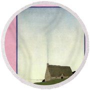 House And Garden Small House Number Cover Round Beach Towel