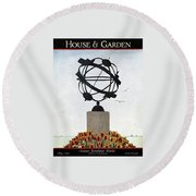 House And Garden Summer Furnishings Number Round Beach Towel