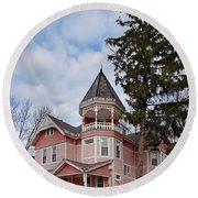 House - Flemington Nj - The Pink Lady Round Beach Towel