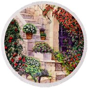 House In Oyster Bay Round Beach Towel by Sher Nasser