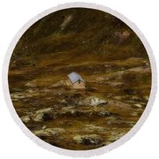 House In The Valley Round Beach Towel