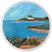 House On The Point Round Beach Towel