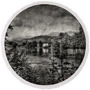 House On The River Round Beach Towel