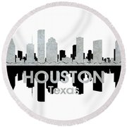 Houston Tx 4 Round Beach Towel