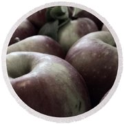 How Do You Like Them Apples Round Beach Towel by Photographic Arts And Design Studio