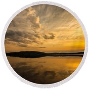 Round Beach Towel featuring the photograph How Great Thou Art by Rose-Maries Pictures