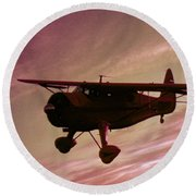 Round Beach Towel featuring the photograph Howard Dga by Greg Reed