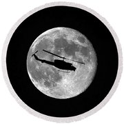 Huey Moon Round Beach Towel