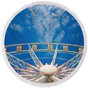Huge Ferris Wheel Round Beach Towel