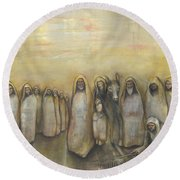 'humble Procession Of The King' Round Beach Towel