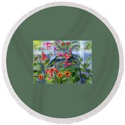 Hummingbird Dance Round Beach Towel