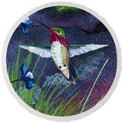 Hummingbird Two Round Beach Towel