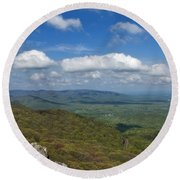 Humpback Rocks View South Round Beach Towel