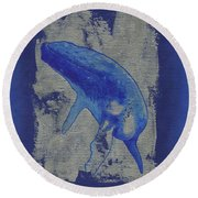 Humpback Whale Song Round Beach Towel