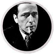 Humphrey Bogart Publicity Photo The Maltese Falcon 1941-2014 Round Beach Towel
