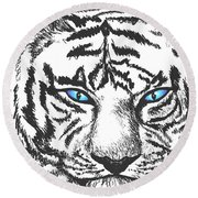 Hungry Eyes Round Beach Towel