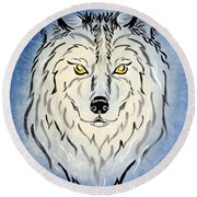 Hungry Like The Wolf Round Beach Towel