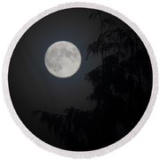 Hunters Moon Round Beach Towel