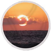 Hunting Island Sunrise Round Beach Towel by Patricia Greer