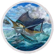 Hunting Sail Round Beach Towel