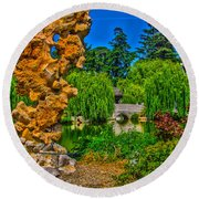 Huntington Gardens Ca Round Beach Towel by Richard J Cassato