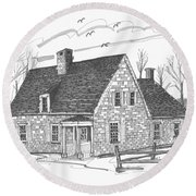 Hurley Stone House Round Beach Towel