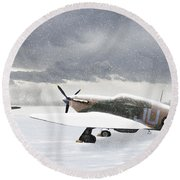 Hurricanes In The Snow Round Beach Towel