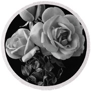 Hybrid Tea California Roses Round Beach Towel