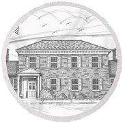 Hyde Park Post Office Round Beach Towel