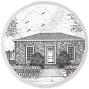 Hyde Park Public Library Round Beach Towel