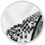 Hyde Park Sheep Flock Round Beach Towel by Underwood Archives