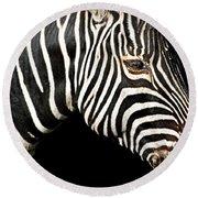 I Am A Zebra Round Beach Towel