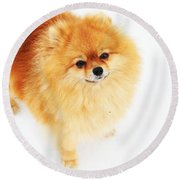 I Am Here I Round Beach Towel