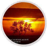 I Am The Way John 14-6 Round Beach Towel