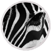 Round Beach Towel featuring the photograph Beauty Needs No Color by Maciek Froncisz