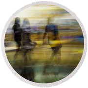 Round Beach Towel featuring the photograph I Had A Dream That You And Your Friends Were There by Alex Lapidus