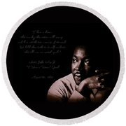 Round Beach Towel featuring the photograph I Have A Dream by Maciek Froncisz