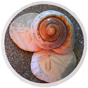 I Sea Art Round Beach Towel