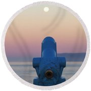 I See The Moon Round Beach Towel by Art Block Collections