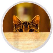 I See You Round Beach Towel by Mike Ste Marie