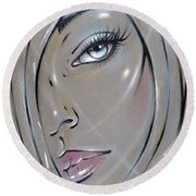 I Want The Truth 310811 Round Beach Towel by Selena Boron