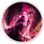 Round Beach Towel featuring the digital art I Want To Break Free by Jason Hanson