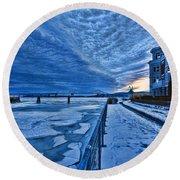 Ice Station Hudson Round Beach Towel