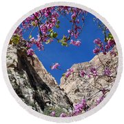 Ice Box Canyon In April Round Beach Towel